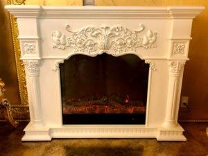 暖炉が設置してあります。